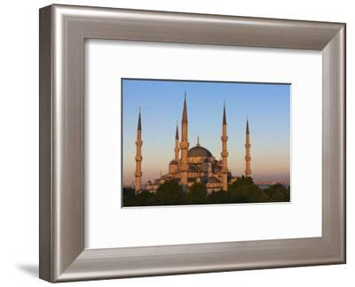 Blue Mosque at sunset, Istanbul, Turkey-Keren Su-Framed Photographic Print