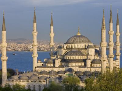 Blue Mosque in Sultanahmet, Overlooking the Bosphorus, Istanbul, Turkey-Gavin Hellier-Photographic Print