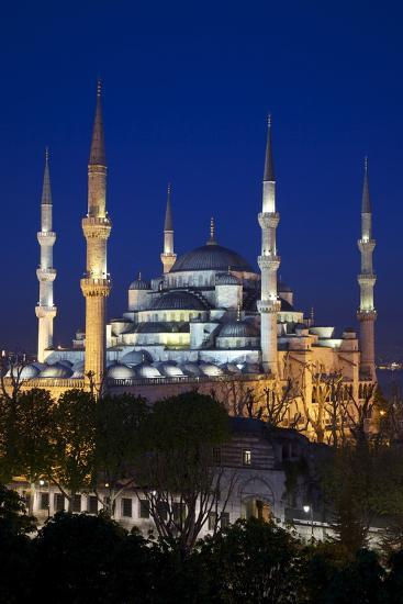 Blue Mosque (Sultan Ahmet Camii), UNESCO World Heritage Site, at Dusk, Istanbul, Turkey, Europe-Neil Farrin-Photographic Print