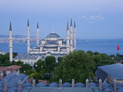Blue Mosque, Sultanahmet, Istanbul, Turkey-Gavin Hellier-Photographic Print