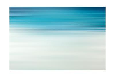Blue Motion Blur Abstract Background-Malija-Art Print