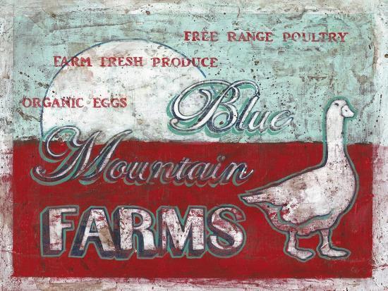Blue Mountain Farms-Catherine Jones-Art Print