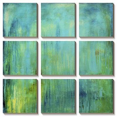 Blue Mountain Rain-Erin Ashley-Canvas Art Set