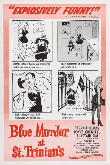 Blue Murder at St. Trinian's, Lower Right: Sabrina, 1957--Art Print