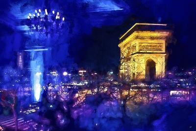 Blue Night in Paris-Philippe Hugonnard-Giclee Print