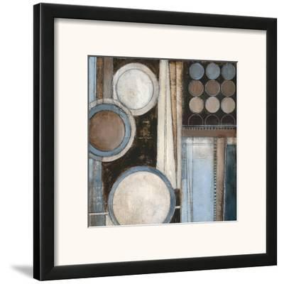 Blue Notes Square II-Kimberly Poloson-Framed Art Print