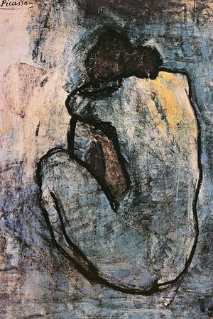 Blue Nude, c.1902-Pablo Picasso-Poster