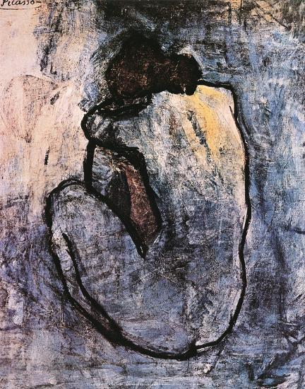 Blue Nude, c.1902-Pablo Picasso-Art Print