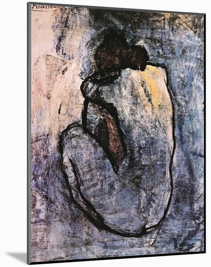 Blue Nude, c.1902-Pablo Picasso-Mounted Art Print