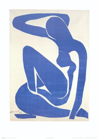 Blue Nude I, c.1952-Henri Matisse-Art Print