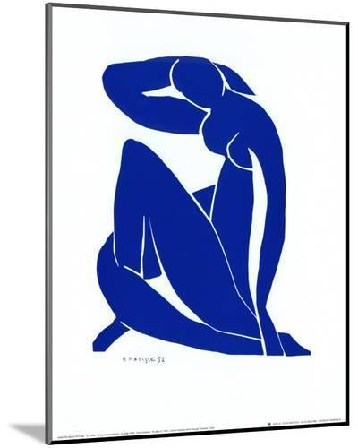 Blue Nude II-Henri Matisse-Mounted Print