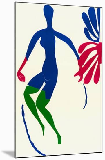 Blue Nude with Green Stockings-Henri Matisse-Mounted Art Print
