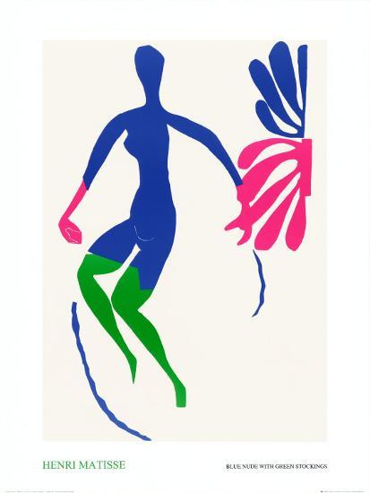 Blue Nude with Green Stockings-Henri Matisse-Art Print