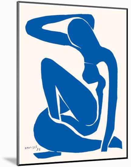 Blue Nude-Henri Matisse-Mounted Art Print