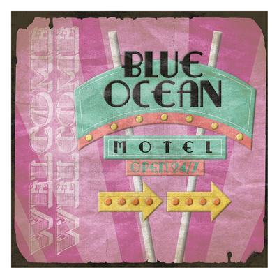 Blue Ocean-Jace Grey-Framed Art Print