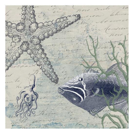 Blue Ocean-Sheldon Lewis-Art Print