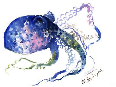 Blue Octopus-Suren Nersisyan-Art Print