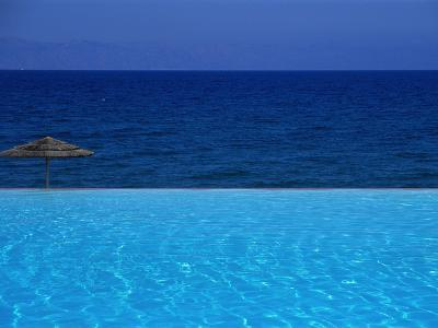 Blue of Pool, Sky and Sea--Photographic Print