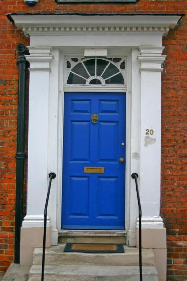 Blue Old Door in Windsor, England-Martina Bleichner-Art Print