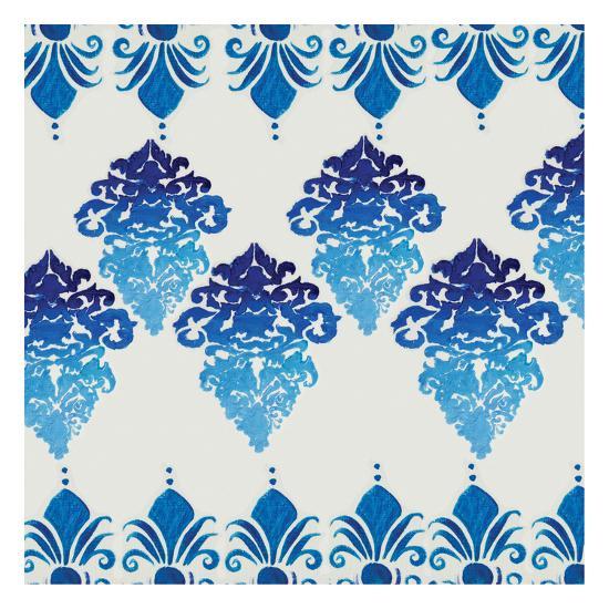 Blue Ombre Damask 4-Boho Hue Studio-Art Print