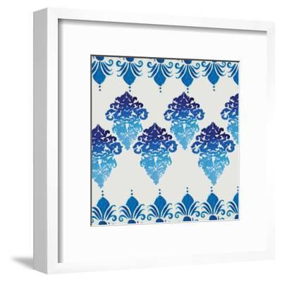 Blue Ombre Damask 4-Boho Hue Studio-Framed Art Print