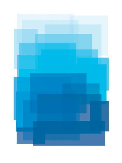 Blue Ombre-Ashlee Rae-Art Print