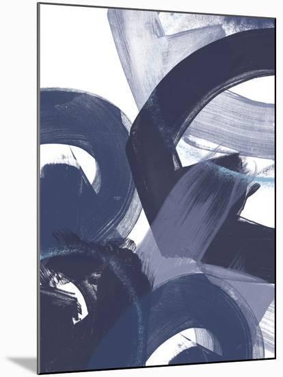 Blue on Blue II-June Vess-Mounted Art Print