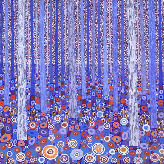 Blue Orange Forest, 2015-David Newton-Giclee Print
