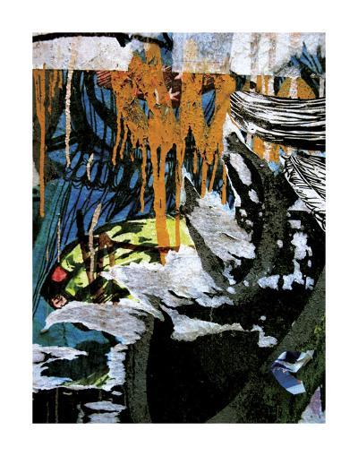 Blue Orange Layers 3-Jenny Kraft-Art Print