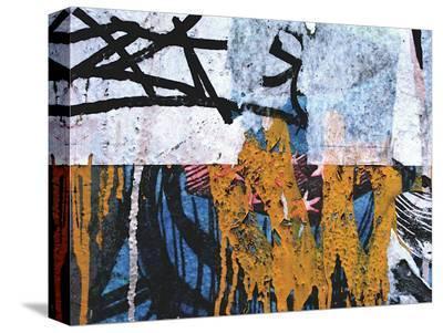 Blue Orange Layers I-Jenny Kraft-Stretched Canvas Print