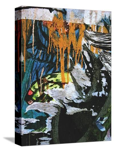 Blue Orange Layers III-Jenny Kraft-Stretched Canvas Print