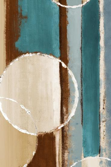 Blue Orbiting Moons IV-Lanie Loreth-Premium Giclee Print