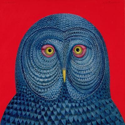 Blue Owl, 1995-Tamas Galambos-Giclee Print