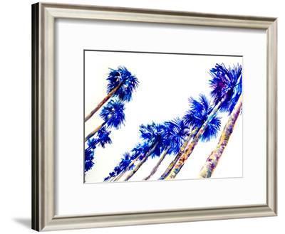 Blue Palms-Suren Nersisyan-Framed Art Print