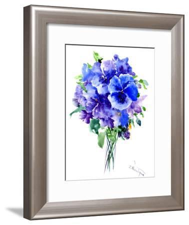 Blue Pansies-Suren Nersisyan-Framed Art Print