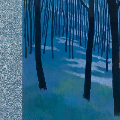 Blue Path to the Edge of the Woods-Kathrine Lovell-Art Print