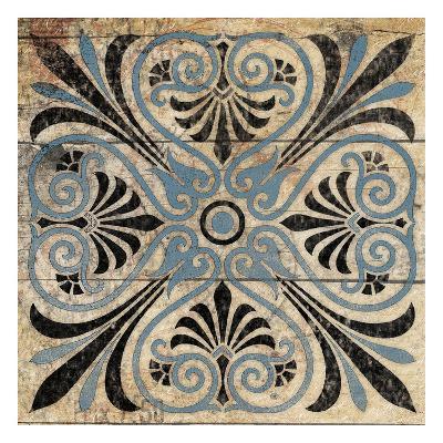 Blue Pattern 5-Jace Grey-Art Print