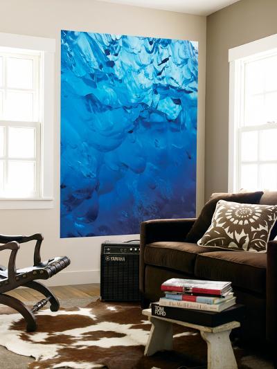 Blue Pattern Stranded Iceberg Abstract with Tracy Arm, Southeast Alaska, USA-Stuart Westmorland-Giant Art Print