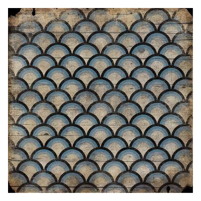 Blue pattern-Jace Grey-Art Print