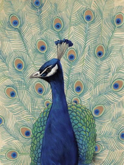 Blue Peacock II--Art Print