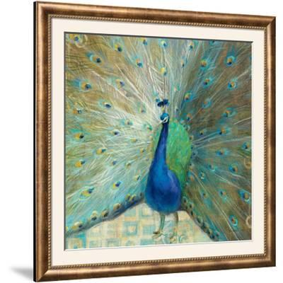 Blue Peacock on Gold-Danhui Nai-Framed Photographic Print
