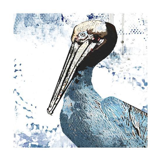 Blue Pelican-Sarah Ogren-Art Print