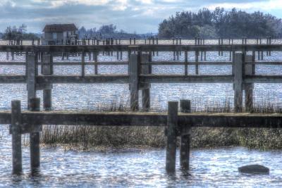 Blue Piers-Robert Goldwitz-Photographic Print