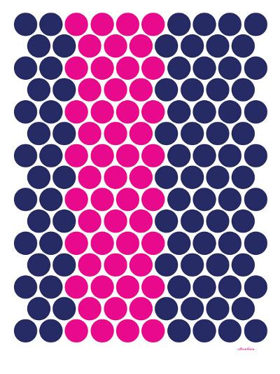 Blue Pink Dots-Avalisa-Art Print