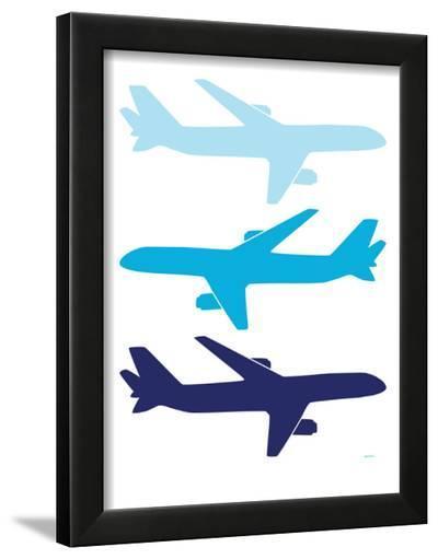 Blue Planes-Avalisa-Framed Art Print