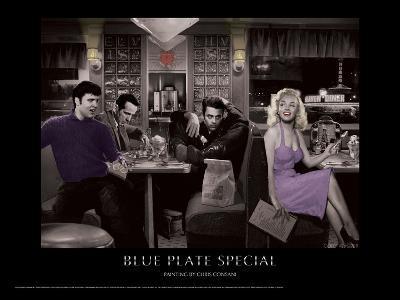 Blue Plate Special (Silver Series)-Chris Consani-Art Print