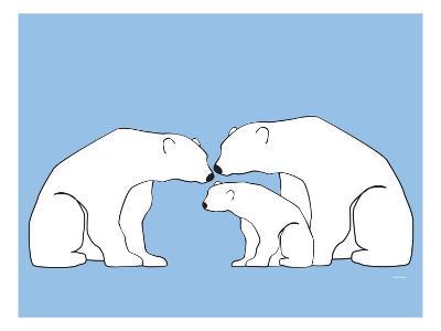 Blue Polar Bears-Avalisa-Art Print