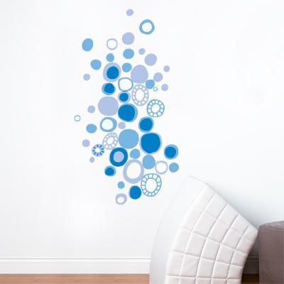 Blue Polka Dots Wall Decal--Wall Decal