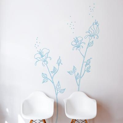 Blue Pollen Wall Decal--Wall Decal