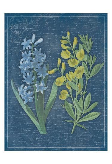 Blue Print Floral II-Jace Grey-Art Print